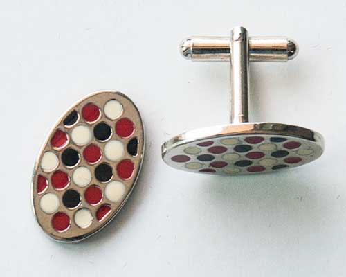 Red Oval Cuff Links