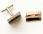 Red Rectangle Cuff Links