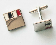 White Square Cuff Links