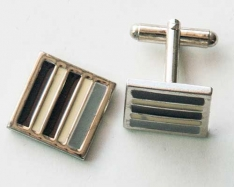 White Square Cuff Links 2