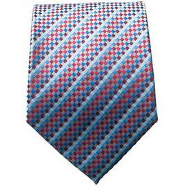 Blue/Red Multi Colored Neck Tie With Neck Tie