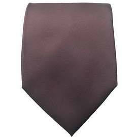 Chocolate Brown Neck Ties With Neck Tie