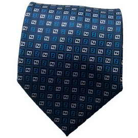 Checked Blue Neck Ties With Neck Tie