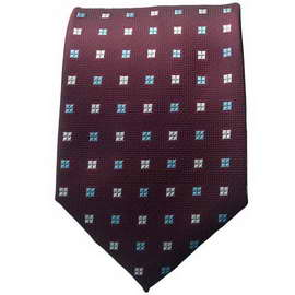 Maroon Multi Colored Neck Ties With Neck Tie