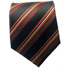 Black Multi Striped Neck Tie
