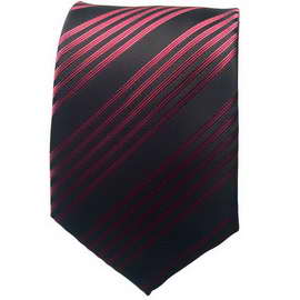 Black/Maroon Striped Neck Tie
