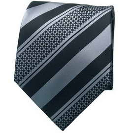 Black/Grey Striped Neck Tie