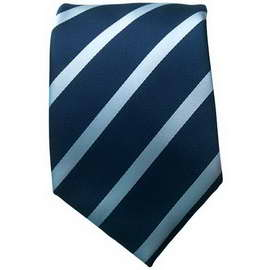 Blue/Blue Striped Neck Ties With Neck Tie
