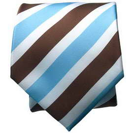 Brown/Lt. Blue Striped Neck Ties With Neck Tie