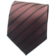Chocolate Brown Striped Neck Tie