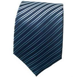 Dark Blue Striped Neck Tie 1