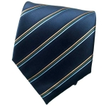 Dark Blue Striped Neck Tie 2
