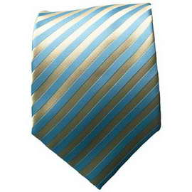 Gold/Lt. Blue Striped Neck Ties With Neck Tie
