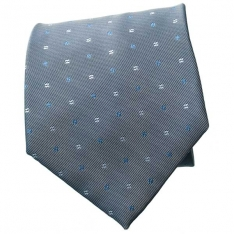 Silver/Lt.Blue/White Neck Tie