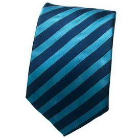 Lt Blue/Blue Striped Neck Ties With Neck Tie