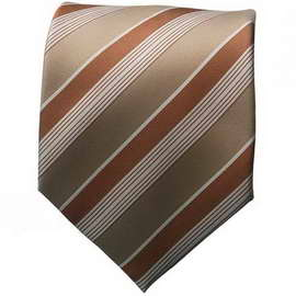 Lt. Blue & Brown Striped Neck Ties With Neck Tie
