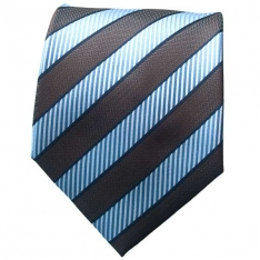 Lt. Blue/Bronze Striped Neck Tie