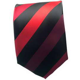Maroon/Black Striped Neck Ties 1 With Neck Tie