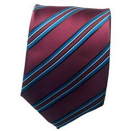 Maroon/Black Striped Neck Ties With Neck Tie