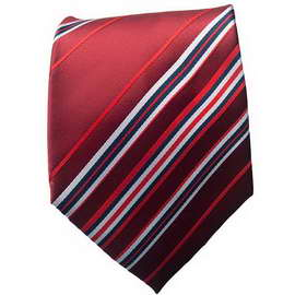 Maroon/Blue Striped Neck Ties With Neck Tie