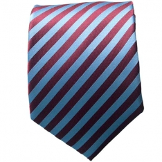 Maroon/Lt. Blue Striped Neck Tie