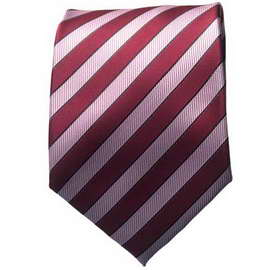 Maroon/Pink Striped Neck Ties With Neck Tie