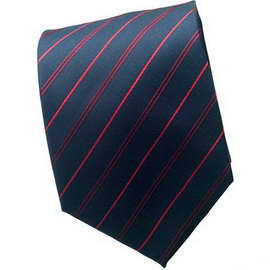 Navy Blue/Red Striped Neck Tie