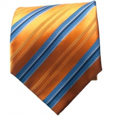 Orange/Blue Striped Neck Tie