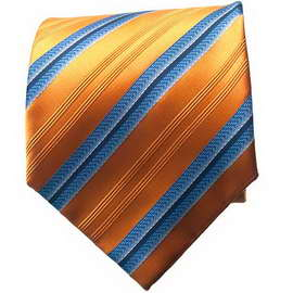 Orange/Blue Striped Neck Ties With Neck Tie