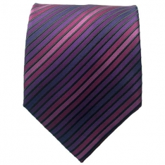Purple Multi Striped Neck Tie 2