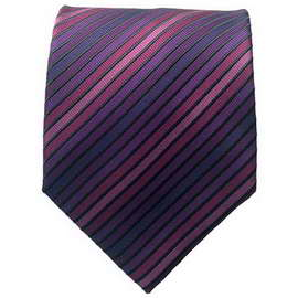 Purple Multi Striped Neck Ties 2 With Neck Tie