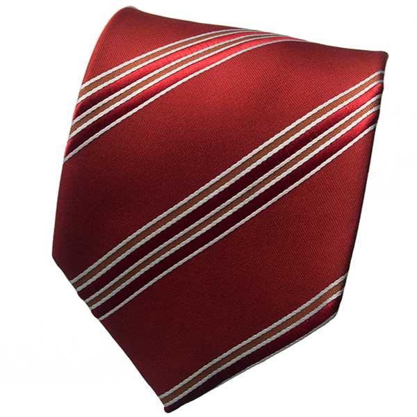 Red/Brown Striped Neck Tie