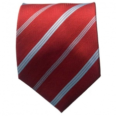 Striped Red/Lt. Blue Neck Tie