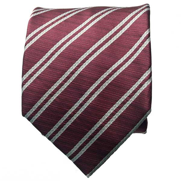 Red & White Striped Neck Tie