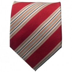 Red/White Striped Neck Tie