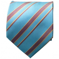 Striped Lt. Blue Mens Neck Tie