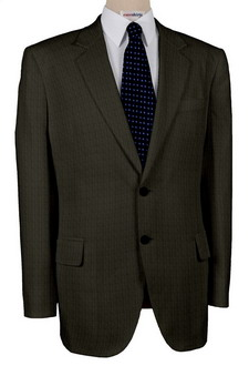 Charcoal Herringbone Suits With Neck Tie