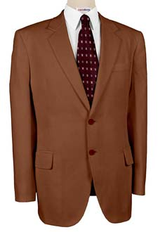 Brown Linen Suits With Neck Tie