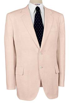 Pink Linen Suits With Neck Tie