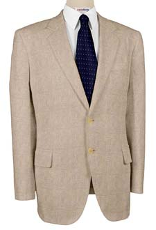Tan Linen Suits With Neck Tie