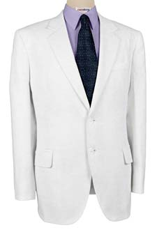 White Linen Suits With Neck Tie