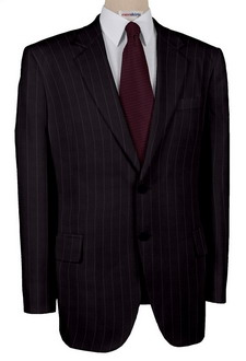 Super 110 Blue Suit w/Grey Pinstripes With Neck Tie