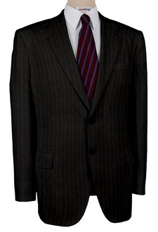 Men's Charcoal Pinstripe Suits With Neck Tie