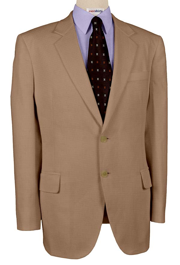 Super 110 Tan Men's Suits