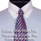 Round Pin Collar Dress Shirt