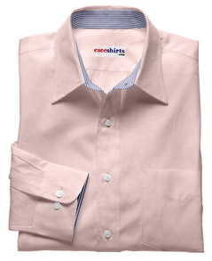 Pink Shirt Blue Contrasting Collar