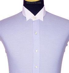 Plain Front Custom Made Dress Shirt