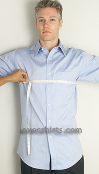 custom dress shirt - chest