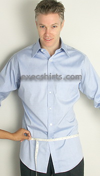 custom dress shirt - hips