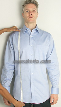 length- custom dress shirt